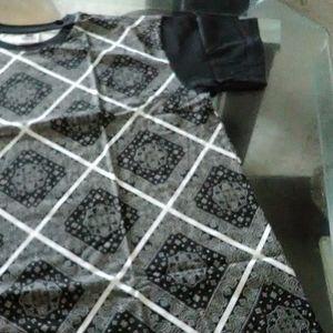Black bandana tee shirt
